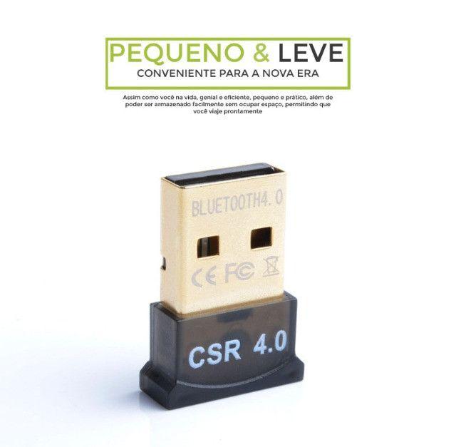 Mini Adaptador Receptor de Áudio Bluetooth USB 4.0 CSR - Foto 2