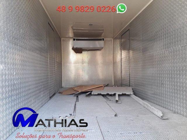 Camara fria 5.50m semi novo aparelho de frio acoplado e eletrico Mathias implementos - Foto 3