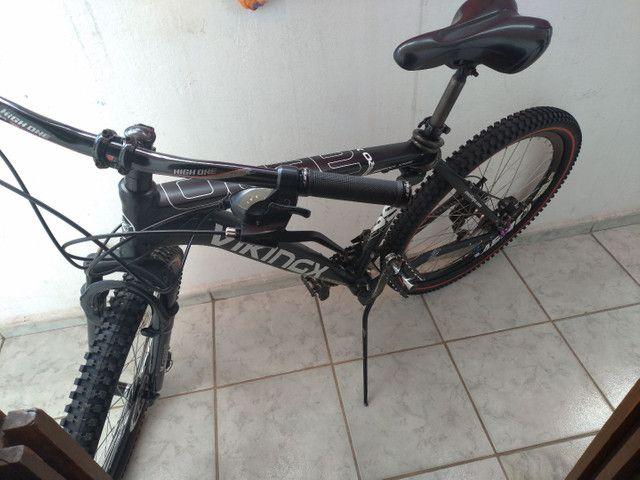 Bike vikings aero x55 aro 26 toda Shimano gts dois pneus zero