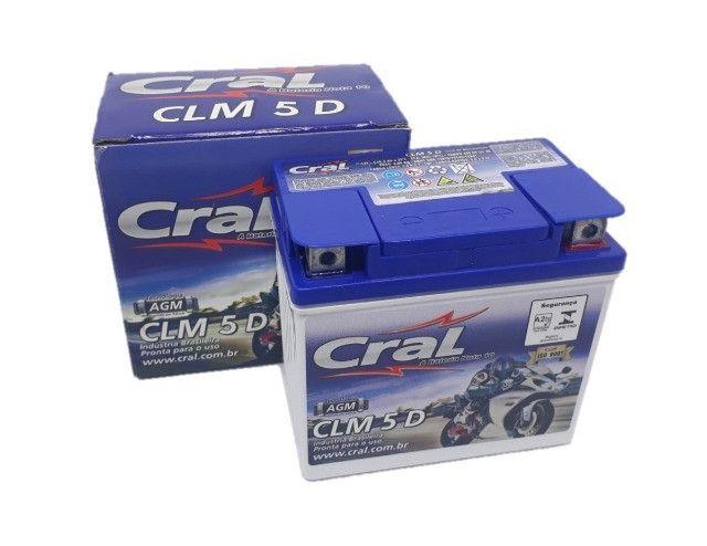 Bateria de moto Cral 130,00 reais a vista retirada na loja - Foto 2