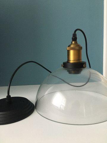 Pendente teto - vintage retrô/ lâmpada de filamento - Foto 3