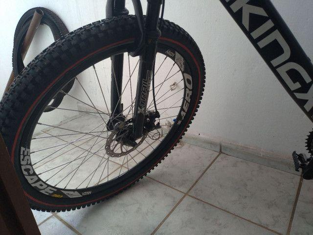 Bike vikings aero x55 aro 26 toda Shimano gts dois pneus zero - Foto 5