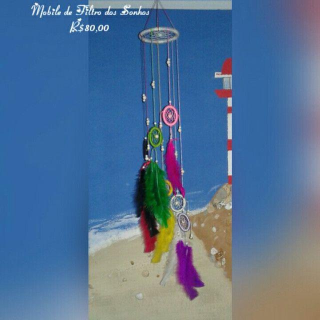 Artesanato: Móbile e Filtro dos Sonhos - Foto 3