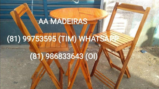 Mesas e cadeiras de madeira - Foto 5