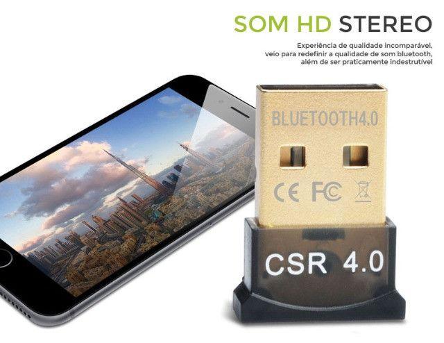 Mini Adaptador Receptor de Áudio Bluetooth USB 4.0 CSR - Foto 4