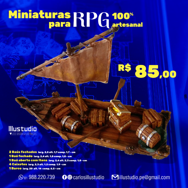 Miniaturas RPG 100% Artesanal - Madeira - Foto 5
