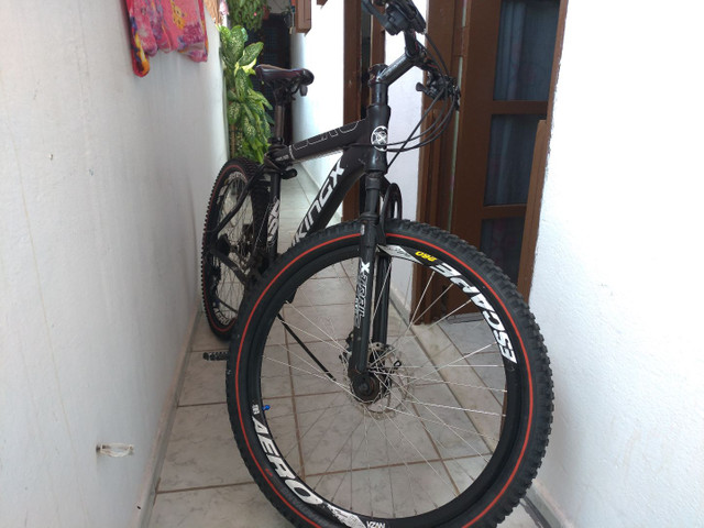 Bike vikings aero x55 aro 26 toda Shimano gts dois pneus zero - Foto 3