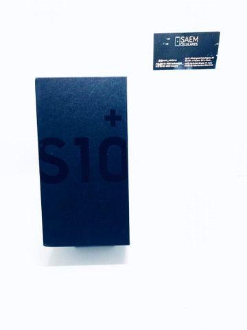 S10 plus 128gb (azul/preto) - novo - Foto 2