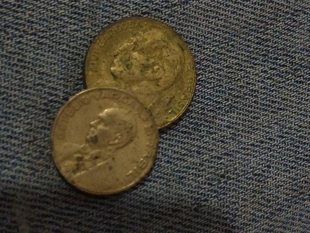 """""""Moedas com sigla """"1945 10centavos e 20 centavos 1948 bom estado de peças raras"""