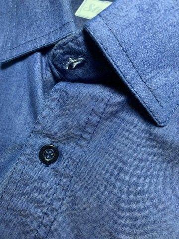 Camisa social masculina Jeans  - Foto 3