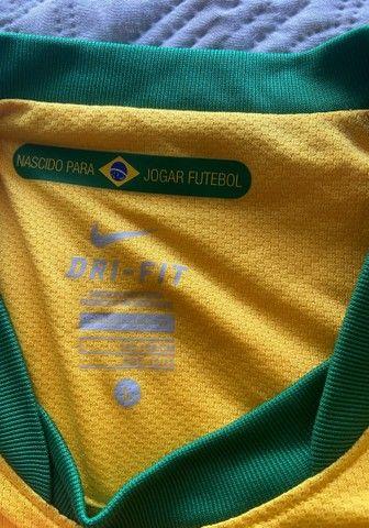 Camisa Oficial Nike (16 anos): Seleção Brasil - Foto 2