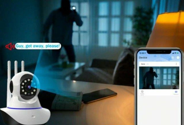 Câmera de Segurança/ Monitore sem está em casa/ Câmera IP com Visão Noturna