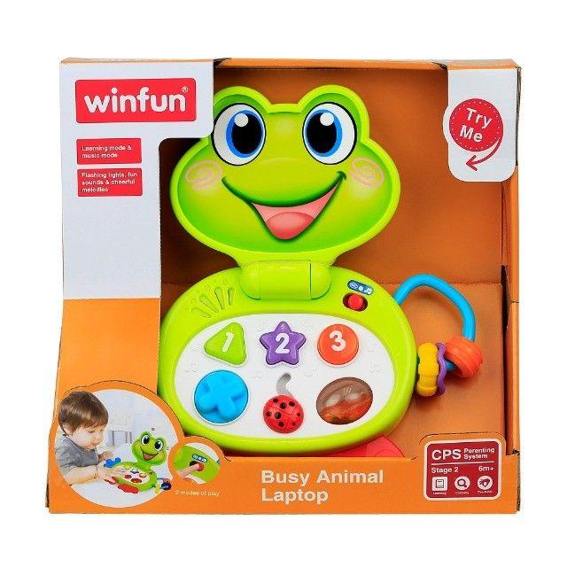 Laptop Brinquedo Baby Sapinho Infantil Com Sons E Luzes - Foto 4