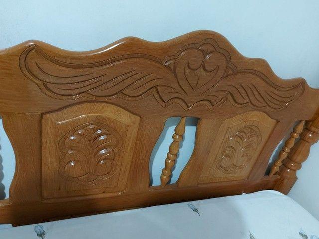 Cama de casal, madeira maciça. - Foto 5