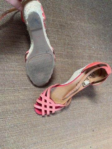 sandália feminina n37 vermelha - Foto 2