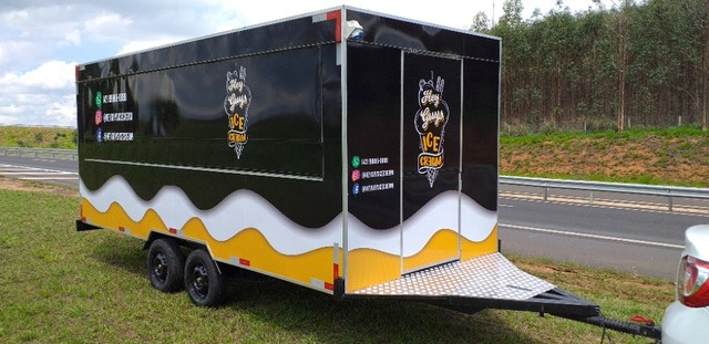 Trailer Top 5x2m Food Truck Direto da Fábrica Especialista