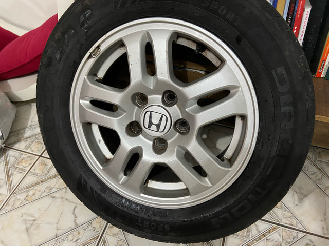 Roda 15 Honda com pneu