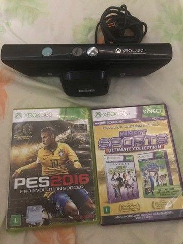 Kinect de Xbox com 3 jogos