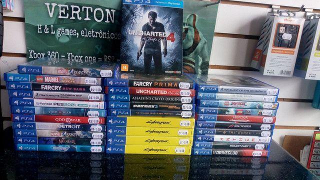 Jogos de PS4 novos e Semi novos