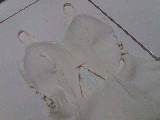 Vestido Branco Curto decotado - Foto 2