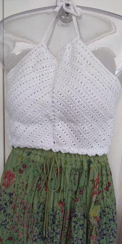 Cropped de Crochê Frente Única com Bojo   - Foto 5