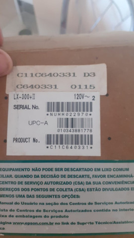 Impressora Matricial Epson Lx-300+ii(Nova na caixa) - Foto 4