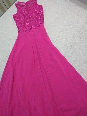 Vestido rosa de festa - Foto 3