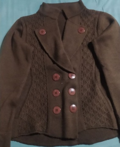Casaco de lã marrom estilo terninho - Foto 2