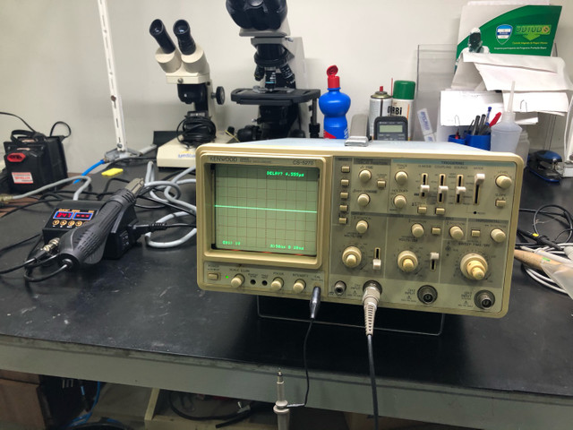 Osciloscópio kenwood CS5270 100Mhz 3 canais  - Foto 6