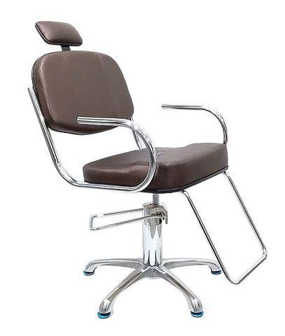 Cadeira Hidráulica Cromada Fixa ou Reclinável  - Foto 2