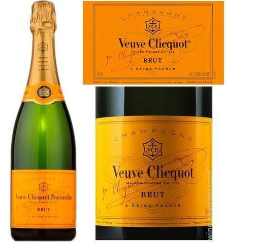 Champagne Veuve Clicquot Brut 750 Ml Original Nota Fiscal Procedência Garantida