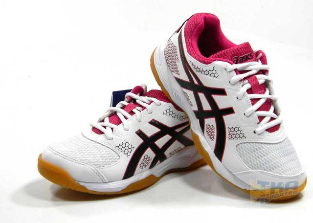 50049e349c Tenis Asics Gel Rocket 8 Feminino bco rosa pto tam  34 39 - Esportes ...