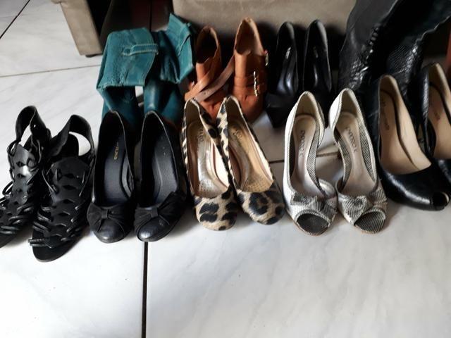 Sapatos feminino, em ótimo estado, pouco uso