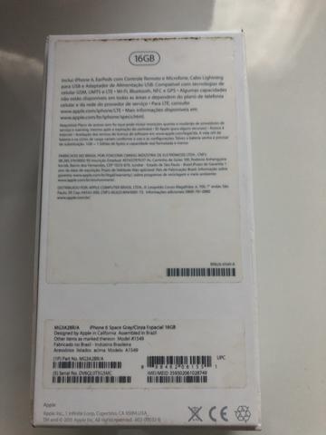 IPhone 6 somente venda R$950,00 zero não tem nenhum risco Sempre com película com borda i - Foto 4