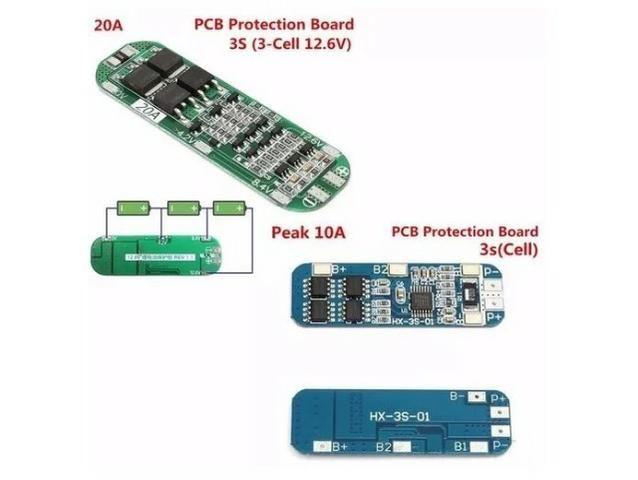 COD-AM147 Bms Placa 3s 12.6v 20a Li-ion Bateria De Lítio 18650 Arduino Automação Robot - Foto 2