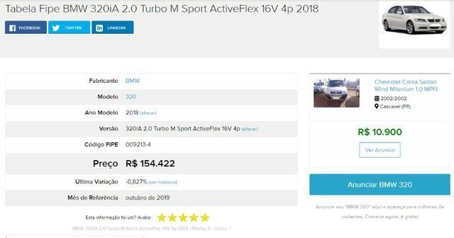 BMW 320i 2.0 Turbo Sport ActiveFlex - Único Dono - Estado de Zero km - Garantia - 2018 - Foto 3
