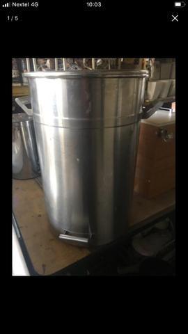 Bombona em aço inox 85 litros com alça - Foto 4