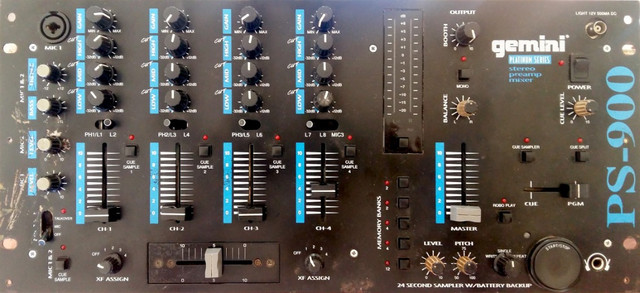 Mixer Gemini PS-900 Profissional Sampler e Pré-ampificador Estéreo - Foto 3
