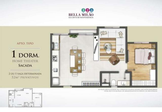 Bella Milão - Apartamento de 1 a 3 quartos em São Roque, SP - Foto 15