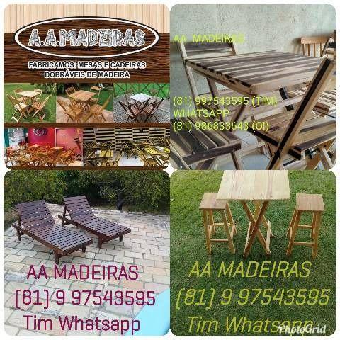 Mesas e cadeiras de madeira - Foto 6