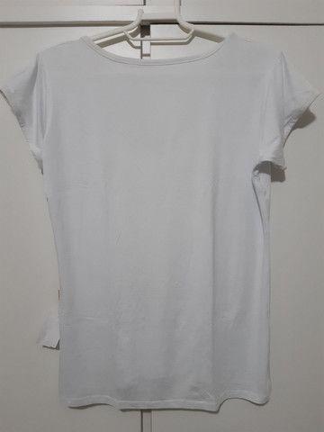 Blusa branca com renda - Foto 3