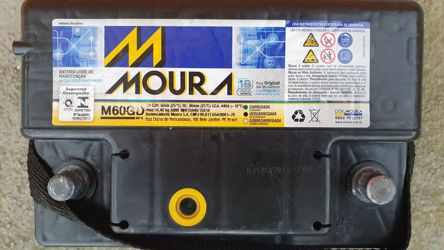 Bateria Automotiva Moura 60AH - Foto 5