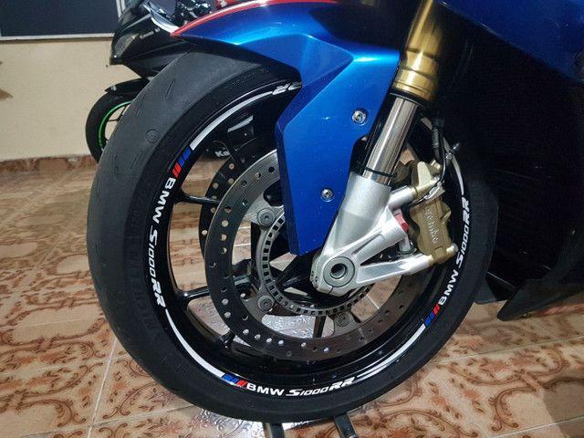 Kit de adesivos e frisos de roda para motos - Foto 3