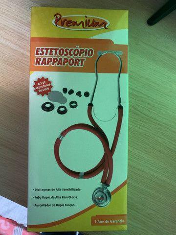 kit estetoscópio e esfigmomanômetro vinho premium  - Foto 2