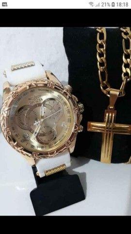 Cordão + relógio Invicta  - Foto 3