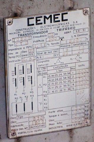 Transformador Trifásico Sub Estação CEMEC 300KVA  - Foto 2