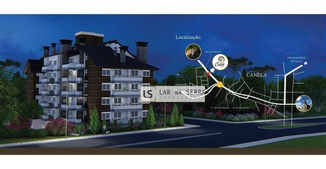 Apartamento com 2 dormitórios à venda, 105 m² por R$ 549.000,00 - Vila Suiça - Canela/RS - Foto 2