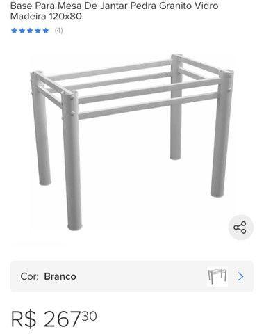 Base de mesa - pés de aço carbono
