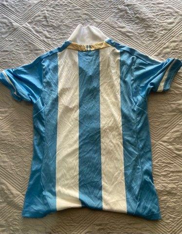 Camisa Oficial Adidas (M infantil) - Seleção Argentina  - Foto 3