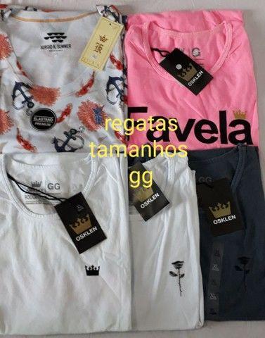 Camisas regatas tamanhos m/g/gg - Foto 4